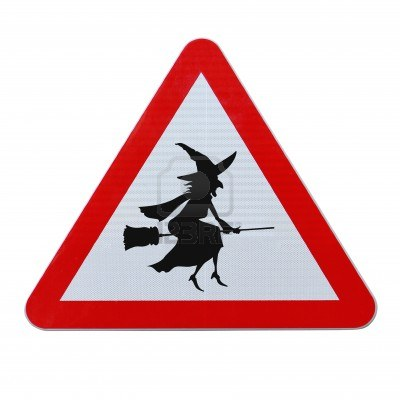 14365669-a-halloween-road-sign-with-a-flying-witch-silhouette-isolated-on-white-with-clipping-path