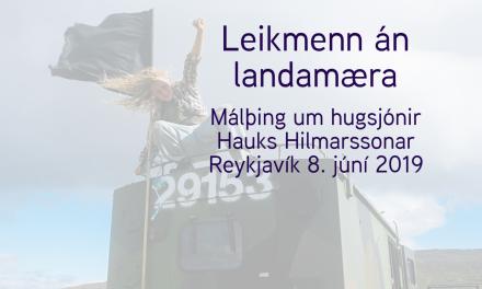 Leikmenn án landamæra – Dagskrá málþingsins